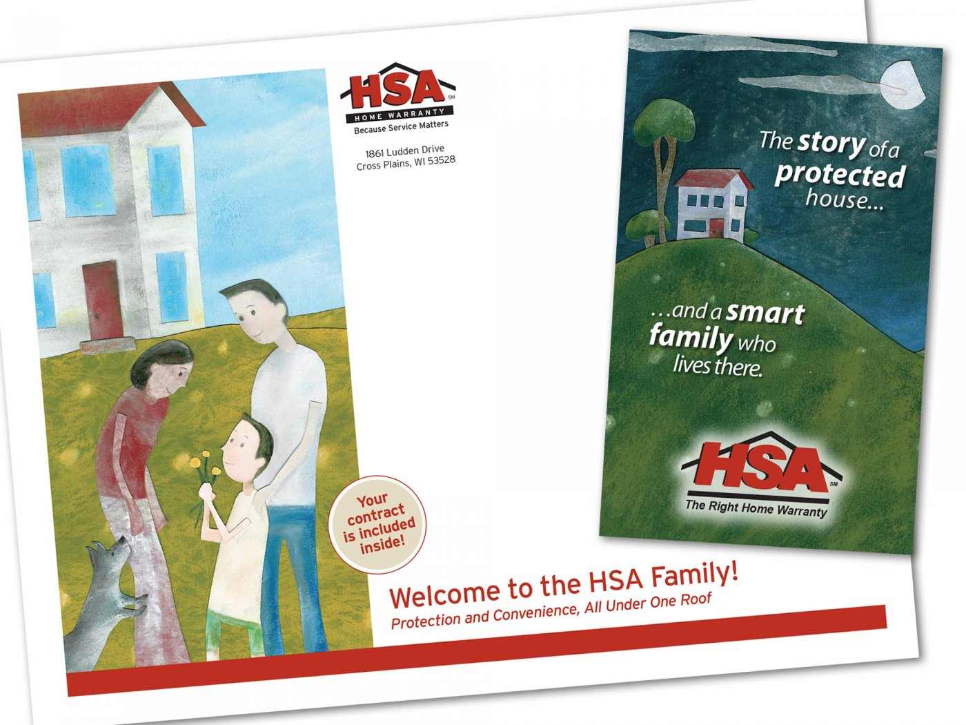 HSA booklet mailer print illustration