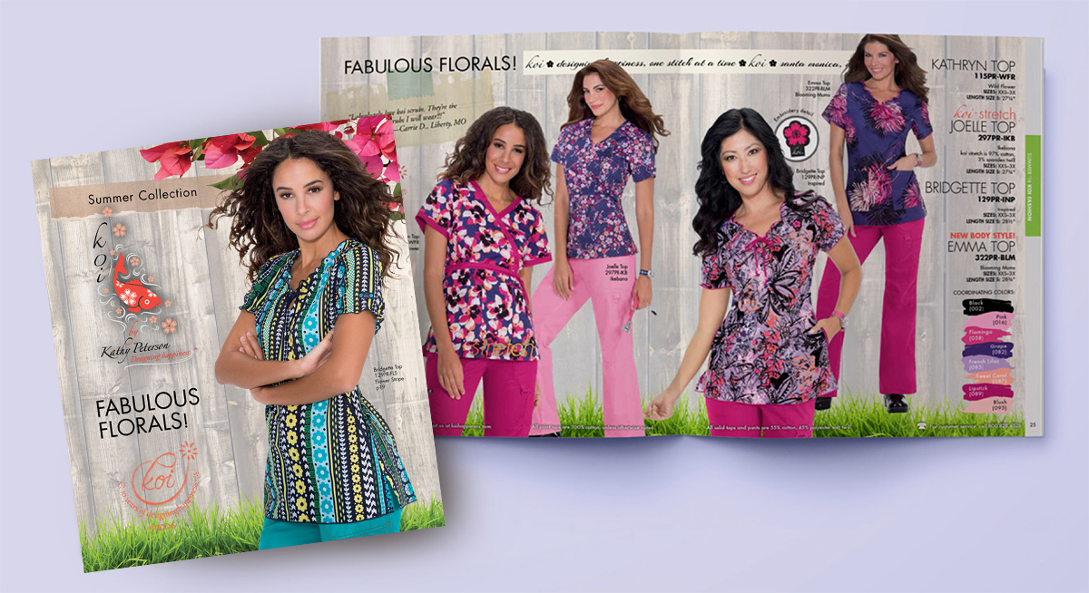 Koi print clothing catalog 2016